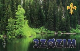 Polish Amateur Radio QSL Card 3Z0ZIM Przasnysz Poland 1996 3ZØZIM Scout Scouting - Radio Amateur