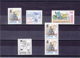SUEDE 1980 NOËL Yvert 1106-1109 + 1107a NEUF** MNH - Suède