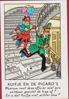 Kuifje En De Picaro's Tintin Et Milou Bobbie Reclamekaartje Strip Stripfiguur Comics Bande Dessinée BD Reclame Casterman - Collections