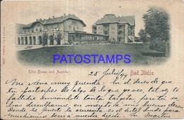 98919 BOSNIA Y HERZEGOVINA BOSNIEN HERZEGOWINA BAD ILIDZE HOTEL BOSNA & AUSTRIA POSTAL POSTCARD - Bosnie-Herzegovine