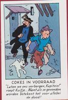 Cokes In Voorraad Kuifje En Bobbie Kapitein Haddock Tintin Et Milou Reclamekaartje Strip Stripfiguur Bande Dessinée BD - Collections