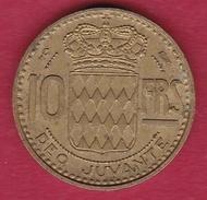 Monaco - Rainier III - 10 Francs - 1950 - 1949-1956 Anciens Francs