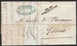 1850 LAC De Paris A Genes ( Genua - Sardaigne ) Via Di Beauvoisin - 1849-1876: Classic Period