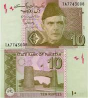PAKISTAN       10 Rupees        P-45f         2011        UNC  [sign. Yaseen Anwar] - Pakistan