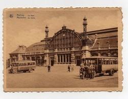 Carte Postale Malines La Gare Mechelen De Statle Bus Autobus - Malines