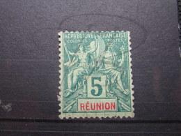 VEND BEAU TIMBRE DE LA REUNION N ° 35 , (X) !!! - Réunion (1852-1975)