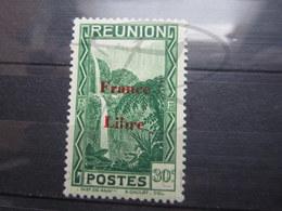"""VEND BEAU TIMBRE DE LA REUNION N ° 227 , """" B """" BRISE , X !!! - Réunion (1852-1975)"""