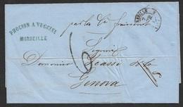 1863 LSC De Marseille A Genes ( Genua ) - 1849-1876: Classic Period