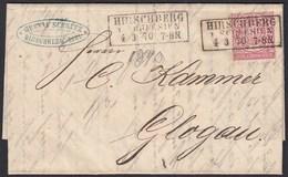 Norddeutscher Bund 1870 Brief Hirschberg Schlesien N. Glaugau  (20087 - Briefmarken