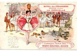 Charente-Maritime : La Rochelle : Hôtel Des Etrangers, Publicité Marie Brizard - La Rochelle