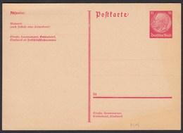 3.Reich Ganzsache P219 Ungebraucht Aus 1933 Mi. 70,00 €    (21889 - Deutschland