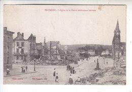 Sp- 54 - BACCARAT - Eglise Et Le Centre Entierement Detruits - Femmes - Enfant - Bombardement - Ruines - Guerre 14 18 - - Baccarat