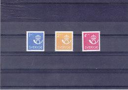SUEDE 1985 COR DE POSTE Yvert 1298-1300 NEUF** MNH - Suède