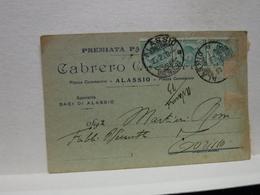 ALASSIO  -- SAVONA -- CABRERO  GREGORIO   -- PASTICCERIA - Savona