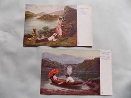 VINTAGE IRELAND: Illustrated Songs X2 Killarney Art Colour Tuck - Non Classés