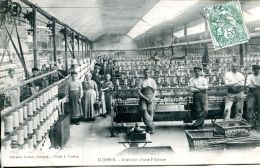 N°64426 -cpa Suippes -intérieur D'une Filature- - Industry