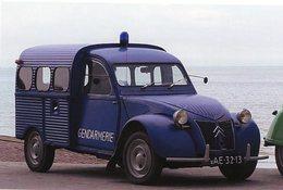 Citroen 2CV Forgonnette Pour La Gendarmerie   -  15x10 PHOTO - Voitures De Tourisme