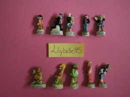 Série Complète De 10 Fèves Anciennes En Porcelaine - LES PIEDS NICKELES 1999 ( Feve ) RARE - Cartoons