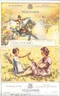 20 TELEGRAMMES BELGIQUE Années 50 -Postés De DOUR,STAMBRUGES,MONS,BRUXELLES,LA BOUVERIE,PATURAGES,VIERVES - Stamped Stationery