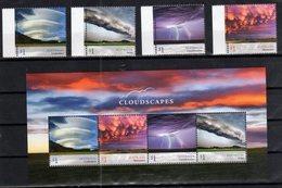 AUSTRALIA, 2018, MNH,CLOUDSCAPES, 4v+SHEETLET - Climate & Meteorology