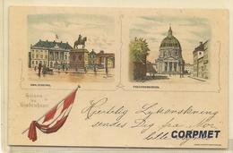 Hilsen Fra Kjobenhann - GRUSS AUS Copenhagen - C/1900's UNDIVIDED BACK  POSTCARD - Denmark
