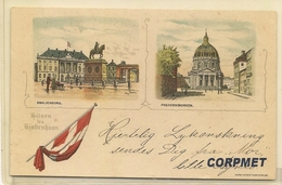 Hilsen Fra Kjobenhann - GRUSS AUS Copenhagen - C/1900's UNDIVIDED BACK  POSTCARD - Dänemark