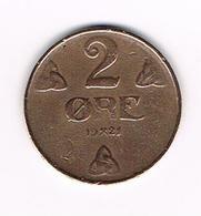 =&   NOORWEGEN  2 ORE 1921 - Norvège