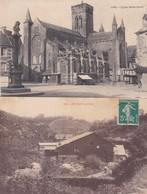 VIRE  -  Eglise Notre-Dame, Porte St-Sauveur, Les Vaux, Rue Saulnerie -  Lot De 4 C. P.  -  Prix Fixe - Vire