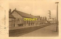Belgique, Herseaux, La Gare, Belle Carte Affranchie 1938, Cliché Pas Courant - Autres