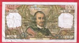 Corneille  -  100 Francs  6/2/1975  -  état  TB+ - 1962-1997 ''Francs''
