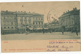 Arad Szinhaz Es Aczel Peter Utczai Reszlet Theatre Hotel Croix Blanche Used To Cuba 1902 - Roumanie