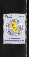 Peru 2000 Peruvian Journalists Federation MNH - Peru