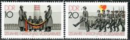 DDR - Mi 2580 / 2581 - ** Postfrisch (E) - 10-20Pf      25 Jahre Volksarmee - [6] République Démocratique
