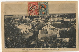 Totalansicht Von Kalvarja P. Used 2 Stamps  To Santa Clara Cuba  EDit  Konigsberg 1919 Esperanto - Litouwen