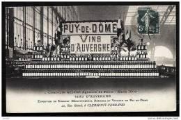CPA ANCIENNE FRANCE- CLERMONT-FERRAND (63)- VINS D'AUVERGNE- STAND DU CONCOURS GENERAL PARIS 1908- TRES GROS PLAN - Clermont Ferrand