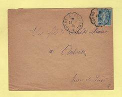 Convoyeur - Tours à Orleans - 1925 - Marcophilie (Lettres)