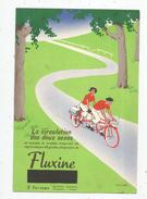 Publicité, Laboratoires FLUXINE , Villefranche , Rhône , Tandem , Illustration , 2 Scans , Frais Fr : 1.55€ - Advertising