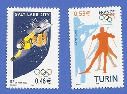 FRANCE 3460 + 3876 NEUFS ** JEUX OLYMPIQUES D'HIVER 2002 ET 2006 - France