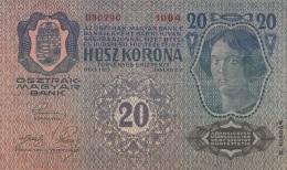 (4 Scan) 2 X 20 KRONEN Österreich/Ungarn Banknoten 1913, Umlaufscheine - Oesterreich