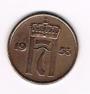 =&   NOORWEGEN  5 ORE 1953 - Norvège