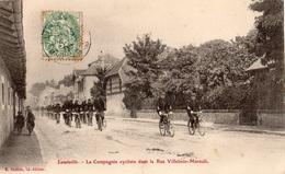 LUNEVILLE LA COMPAGNIE CYCLISTE DANS LA RUE VILLEBOIS-MAREUIL - Luneville