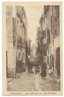 CPA ANIMEE COLLIOURE, ANIMATION RUE ST SAINT VINCENT, PYRENEES ORIENTALES 66 - Collioure