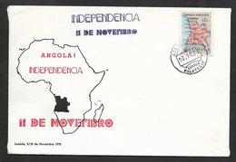 Angola Cachet Indépendance 1975 Independence Cover Postmark 1975 - Angola