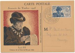 Carte Maximum - Louis XI - Journée Du Timbre 1945 - 1940-49