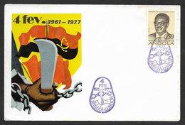 Angola Cachet Commémoratif Anniversaire Lutte Armée Indépendance 1977 Event Postmark  Independence War Anniversay - Angola