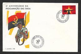 Angola Cachet Commémoratif Anniversaire FAPLA Armée Indépendance 1976 Event Postmark Independence Army Anniversay - Angola