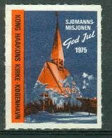 VI Vignette Denmark 1975   Christmas Label, Norwegian Seamen's Church In Copenhagen Denmark (Kong Haakon Kirke) - Erinnofilia