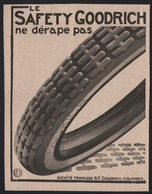 Pub Papier 1916 Pneu Automobile Safety GOODRICH Colombes Seine - Pubblicitari
