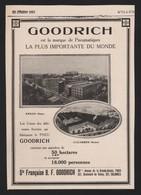 Pub Papier 1913 Pneu Automobiles Safety GOODRICH Colombes Seine Usine - Advertising