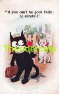 CPA CHAT NOIR FELIX THE FILM  CAT CATS COMIC - Chats
